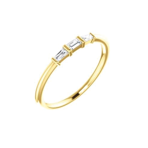 Triple Baguette Diamond Ring - Lauren Sigman Collection