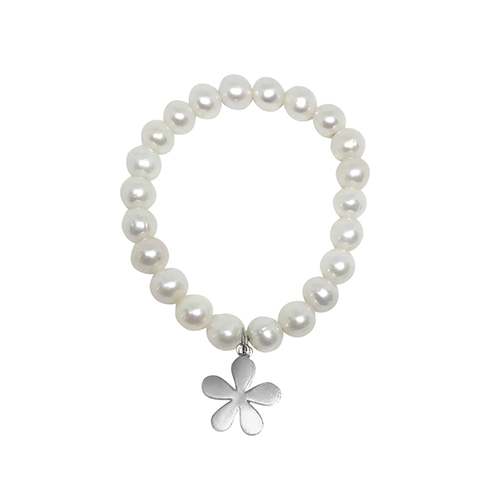 The Willow Pearl Bracelet & Sterling Silver Charm - Lauren Sigman Collection