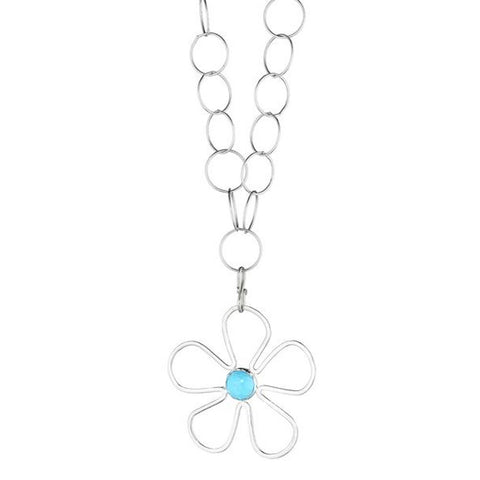 Long Sunflower Turquoise Necklace - Lauren Sigman Collection