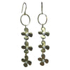 Triple Lily and Diamond earrings - Lauren Sigman Collection