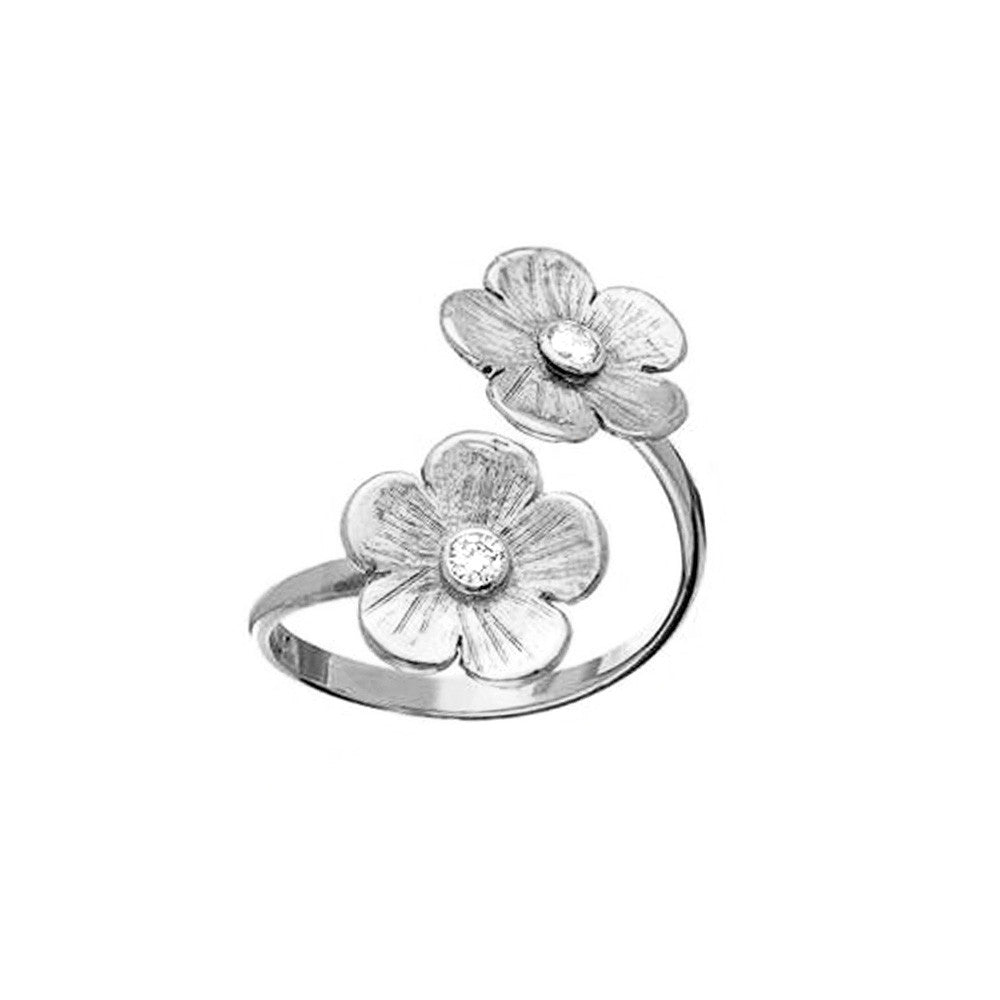 Petunia Diamond White Gold Split Ring - Lauren Sigman Collection