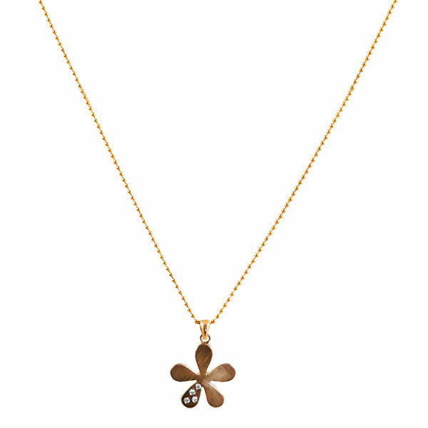 The Willow Necklace in Gold with Diamonds - Lauren Sigman Collection