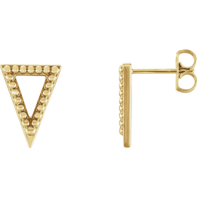 Beaded Triangle Stud Earrings - Lauren Sigman Collection