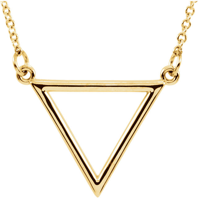 Gold Triangle Necklace - Lauren Sigman Collection