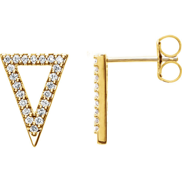 Diamond triangle stud earrings - Lauren Sigman Collection