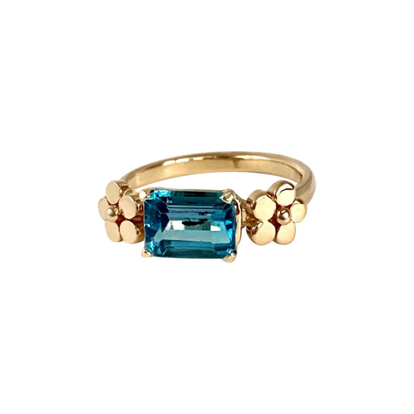 Cala Lily Ring with Blue Topaz - Lauren Sigman Collection