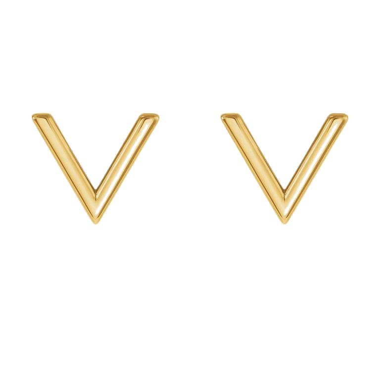 V Stud Earrings - Lauren Sigman Collection