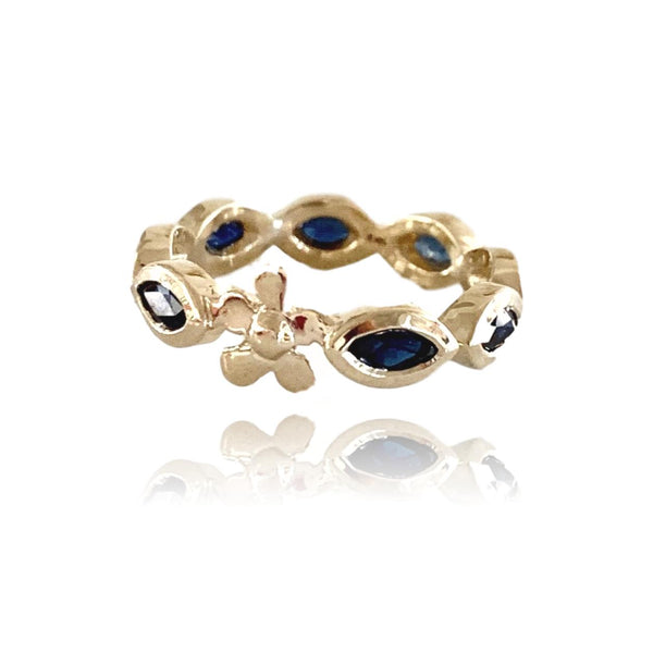Lavender Anniversary Band with Blue Sapphires - Lauren Sigman Collection