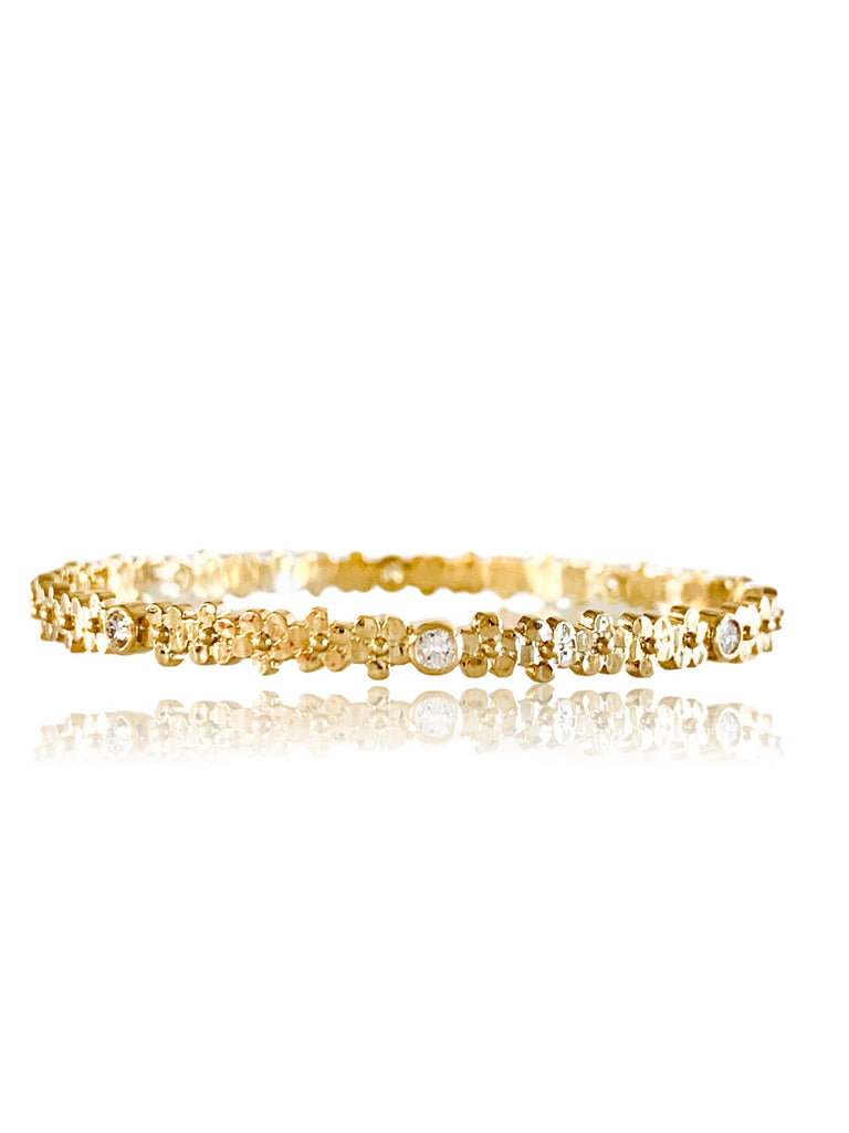 Buttercup Flower Bangle with Diamonds/.50ctw - Lauren Sigman Collection