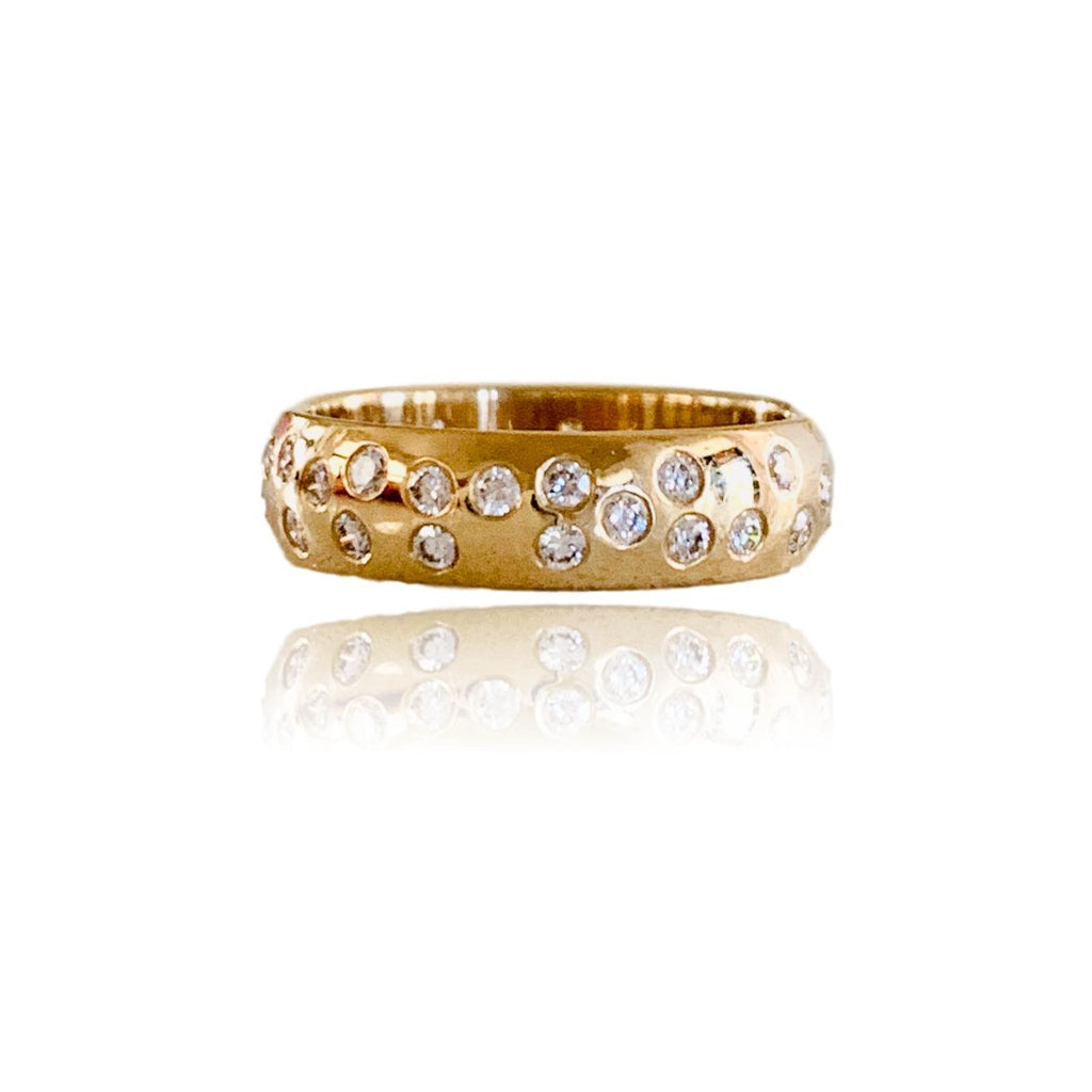 Scattered Diamond Anniversary Band - Lauren Sigman Collection