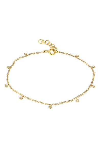 Bezel Link Diamond Bracelet - Lauren Sigman Collection