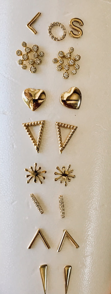 Large Heart Stud Earrings - Lauren Sigman Collection