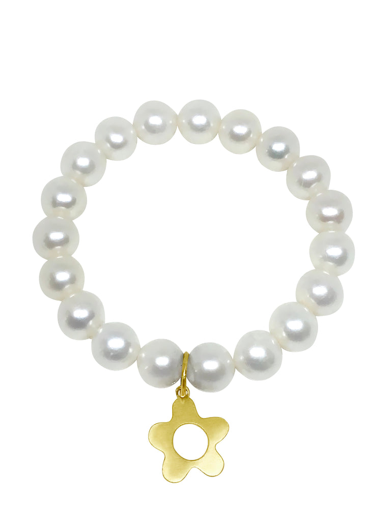 Pearl and Wildflower Charm - Lauren Sigman Collection