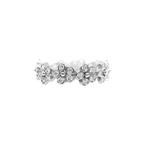 Flora Diamond Anniversary Band in 18k White Gold - Lauren Sigman Collection