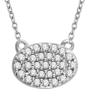 Diamond Oval Cluster Necklace - Lauren Sigman Collection