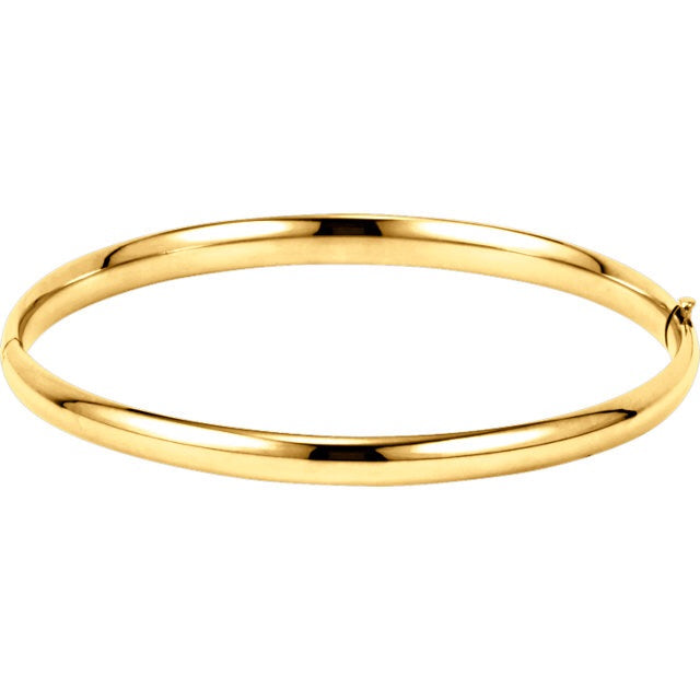 Solid Gold Hinged Bangle (4mm) - Lauren Sigman Collection