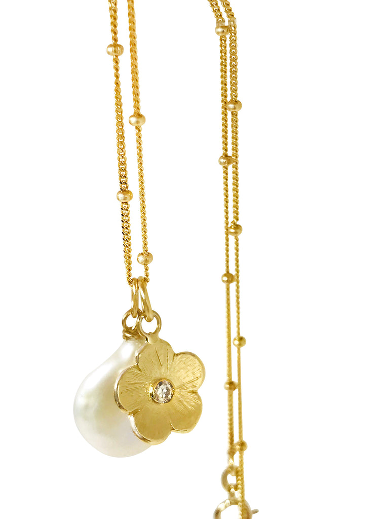 Petunia and coin charm necklace - Lauren Sigman Collection