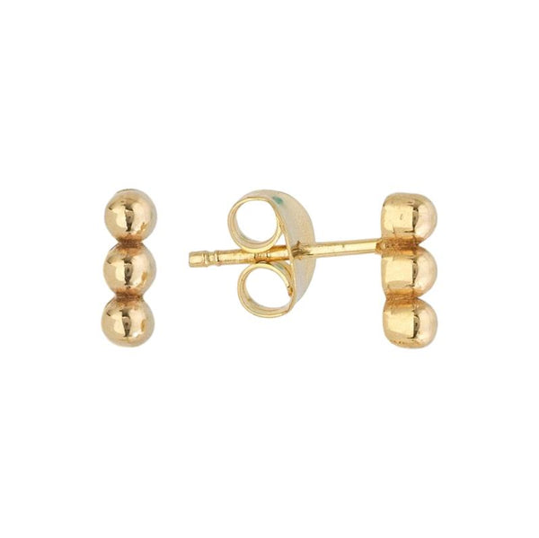 Triple Bead Stud Earrings - Lauren Sigman Collection