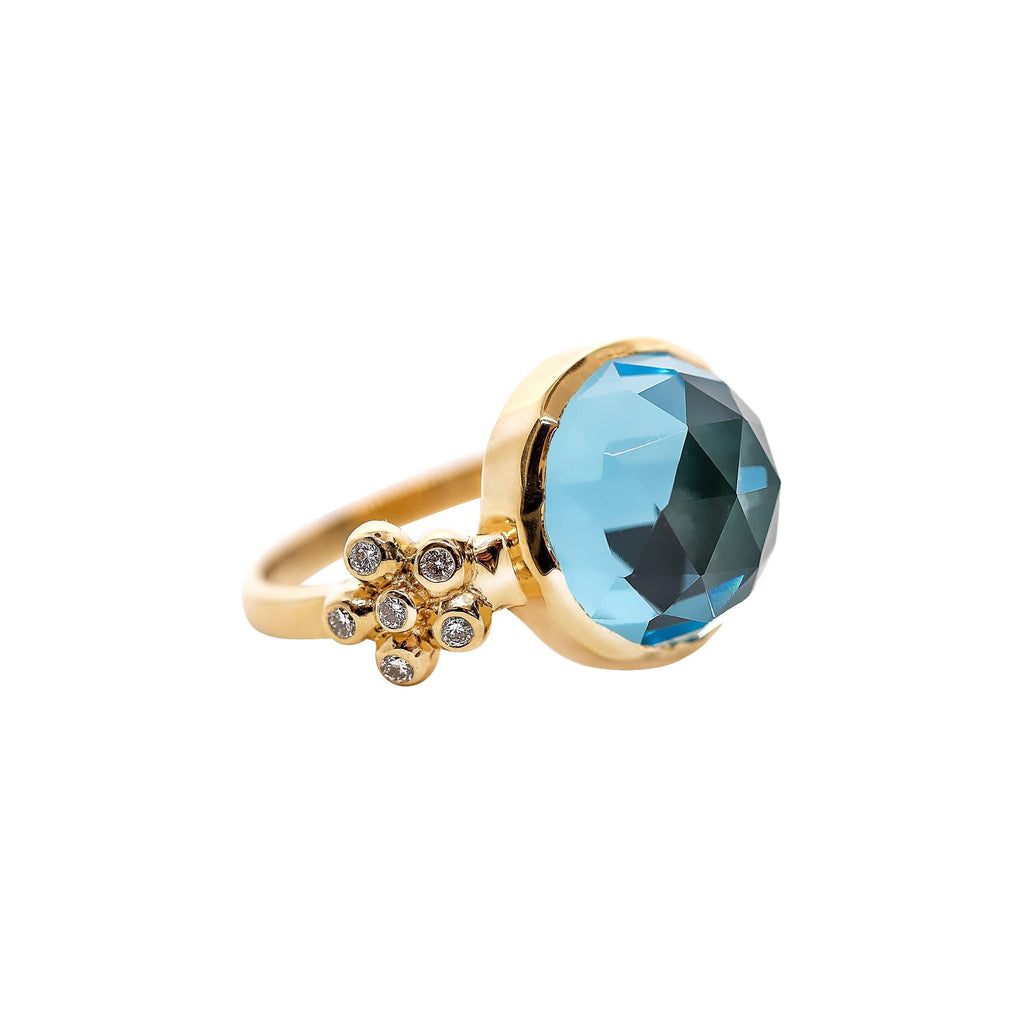 Gerber Ring with Blue Topaz - Lauren Sigman Collection