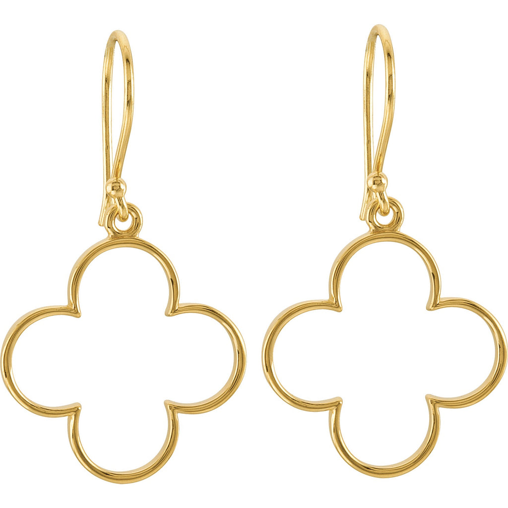 Gold Clover Earrings - Lauren Sigman Collection
