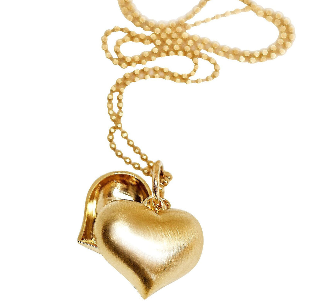 Puffy Heart Split Necklace - Lauren Sigman Collection
