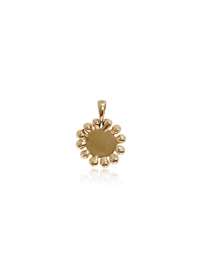 Medium Bead Disk Charm/14K - Lauren Sigman Collection