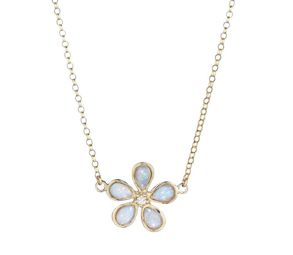 Orchid and Diamond Opal Necklace - Lauren Sigman Collection