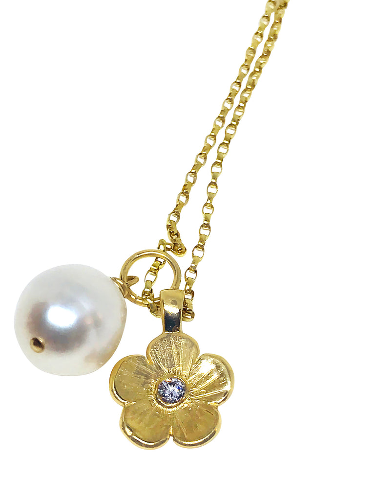 Petunia and Pearl Charm Necklace - Lauren Sigman Collection