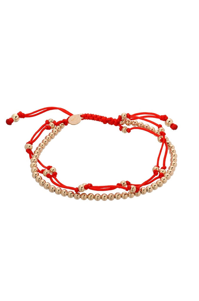 Red Trio Furtune Bracelet - Lauren Sigman Collection