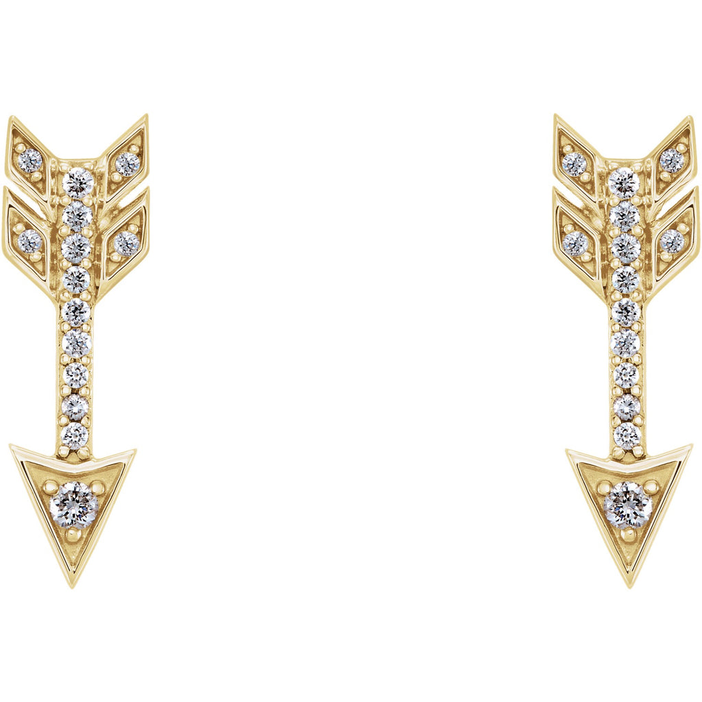 Diamond Arrow Studs - Lauren Sigman Collection
