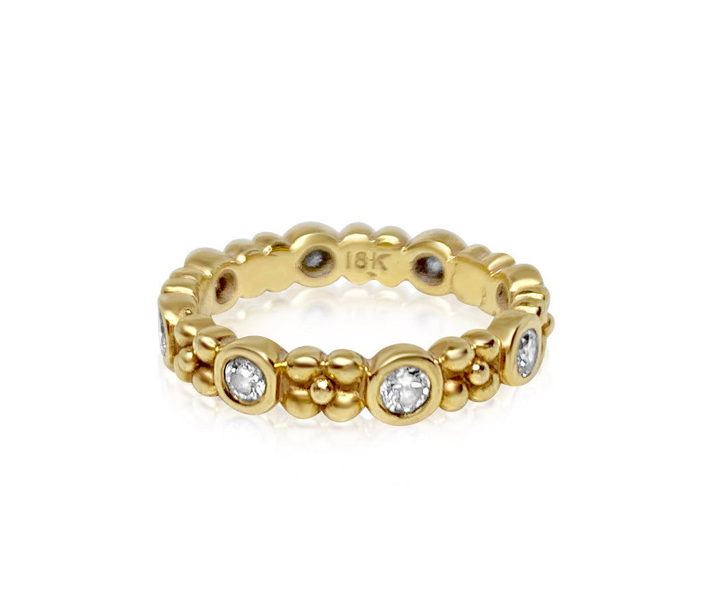 Wildberry Band in 18k Gold with Diamonds - Lauren Sigman Collection