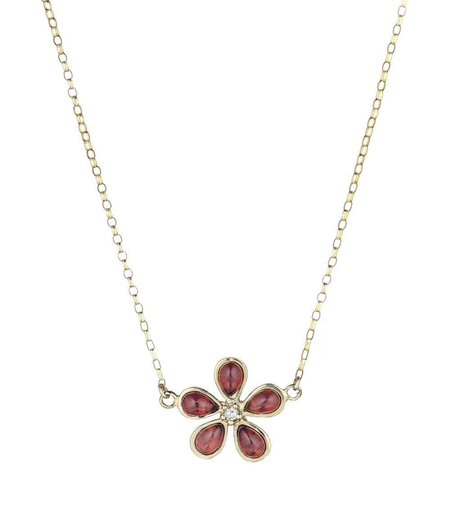 Orchid and Diamond Raspberry Garnet Necklace - Lauren Sigman Collection