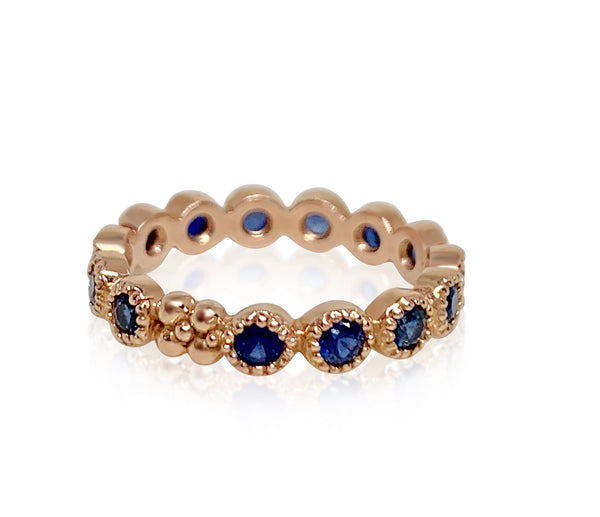 Jasmine Band in 18k Gold with Blue Sapphires - Lauren Sigman Collection