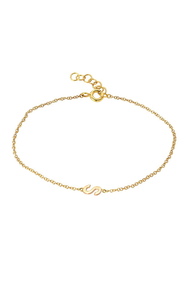 Initial Bracelet in Gold - Lauren Sigman Collection