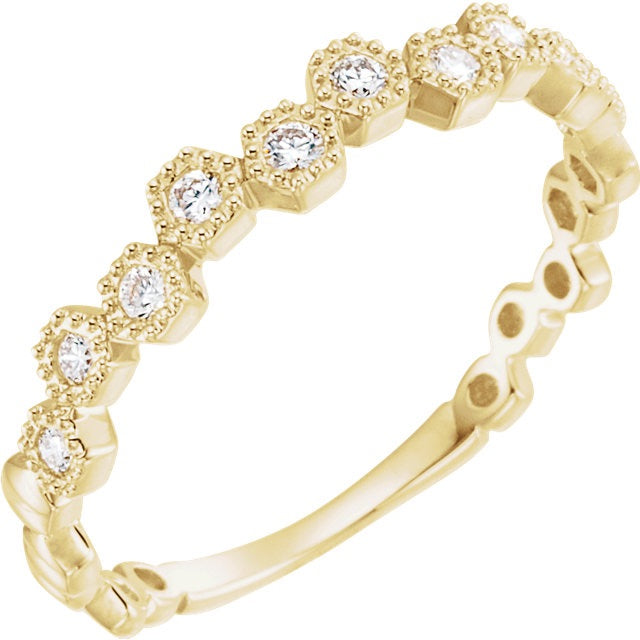 Hexagon Diamond Anniversary Band - Lauren Sigman Collection