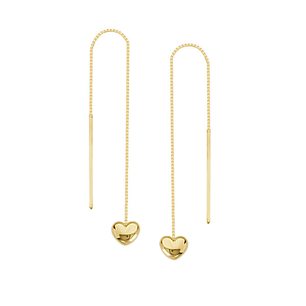 Tiny puff heart threader earrings - Lauren Sigman Collection