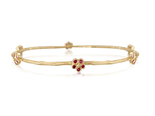 Ruby Flower Bangle - Lauren Sigman Collection