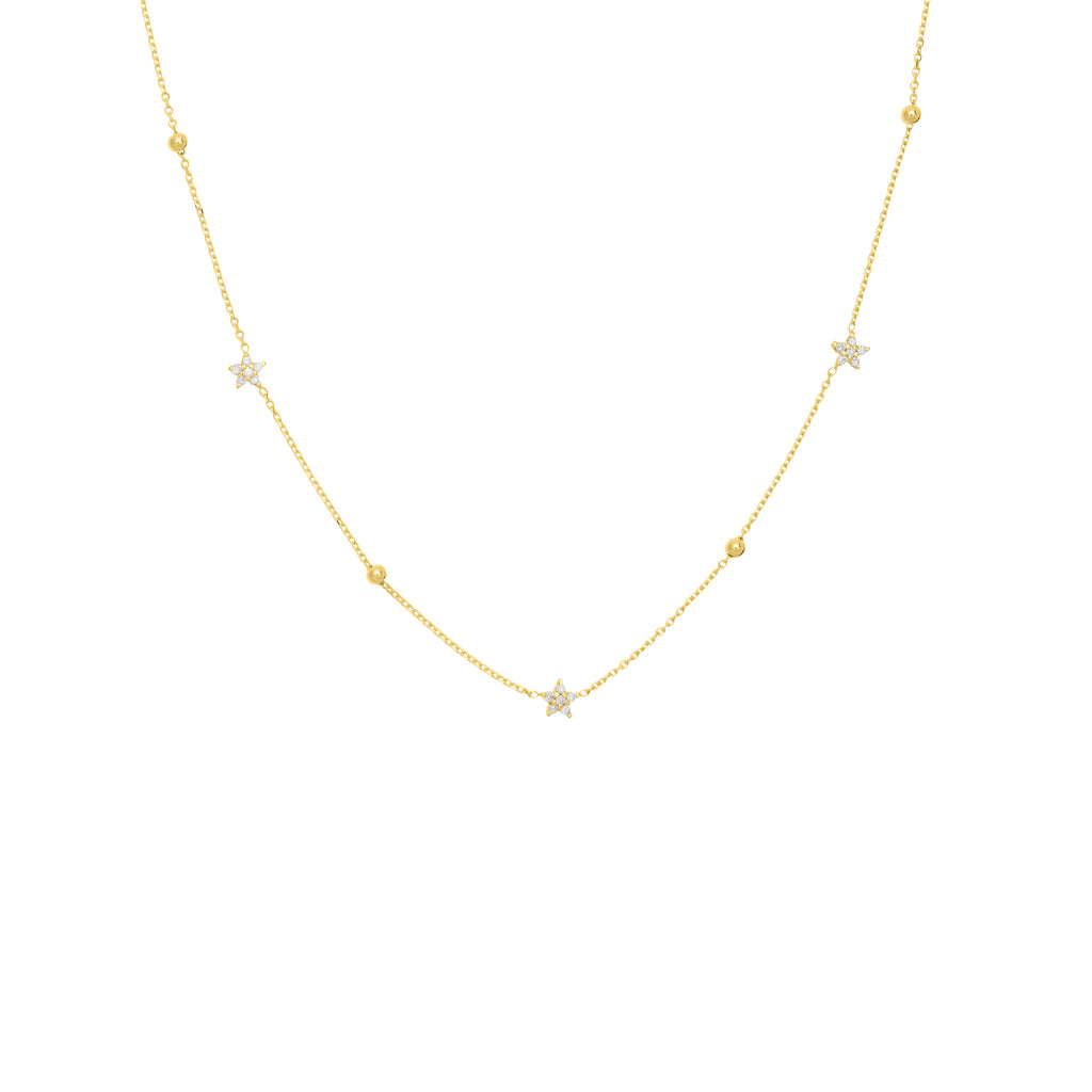 Diamond Flower and Bead Necklace - Lauren Sigman Collection