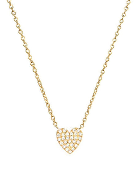 Pave Diamond Small Heart Necklace - Lauren Sigman Collection