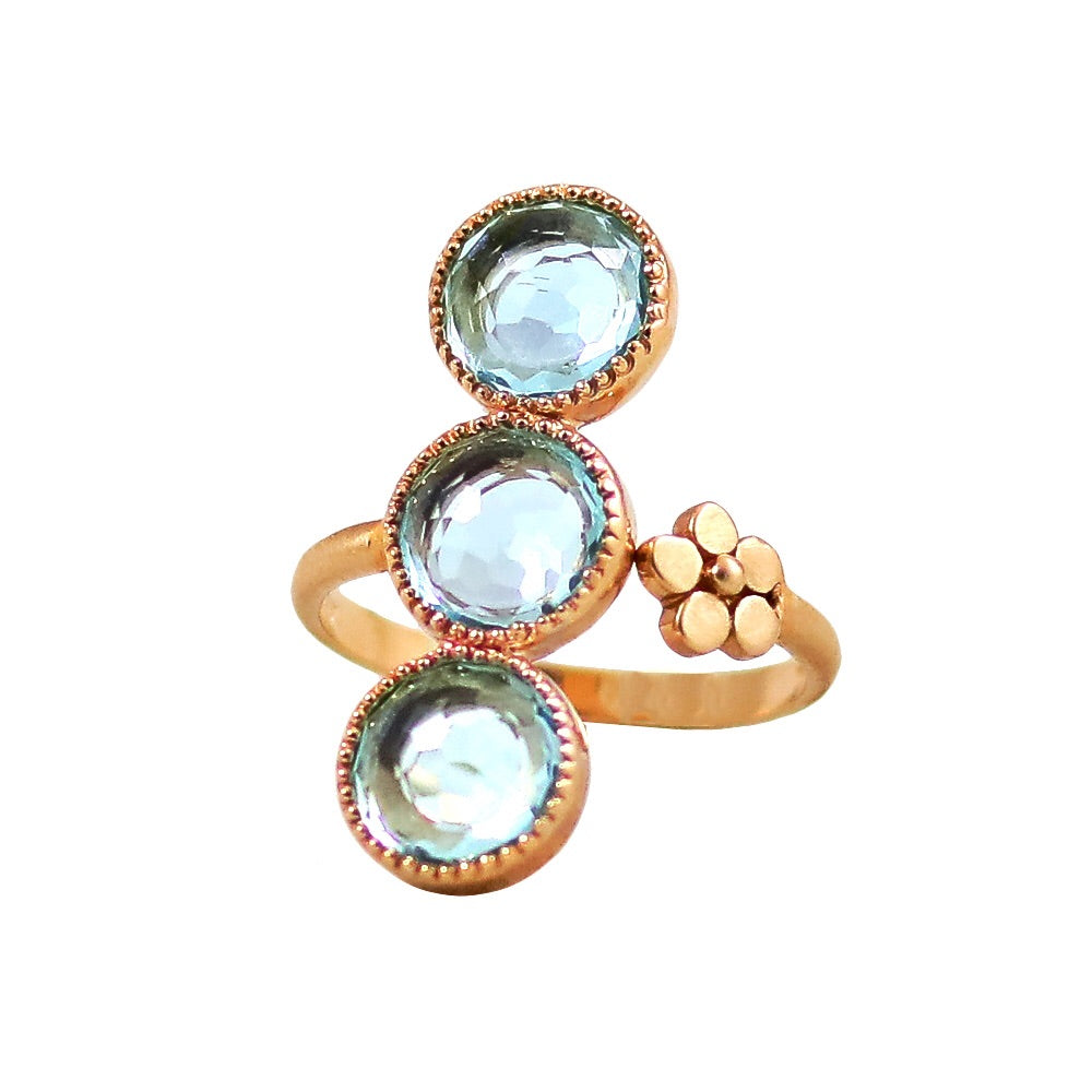 Bluebell Ring / Blue Topaz - Lauren Sigman Collection