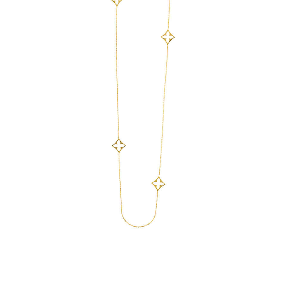 "8 Station Flower Necklace/36"" - Lauren Sigman Collection"