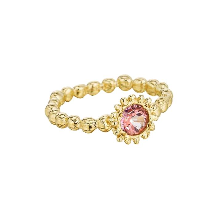 Small Sweet Pea Ring with Pink Sapphire - Lauren Sigman Collection