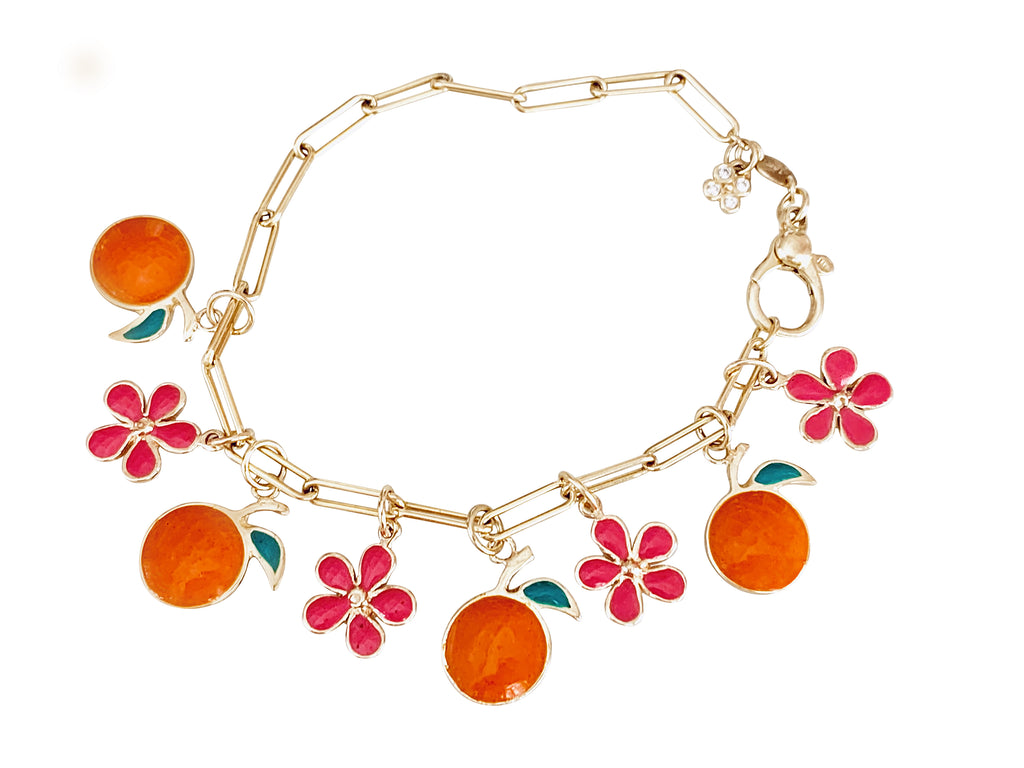 Enamel Orange Pendant/Grove Pendant - Lauren Sigman Collection