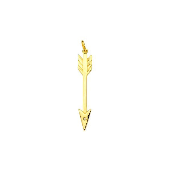 Arrow & Diamond Pendant - Lauren Sigman Collection