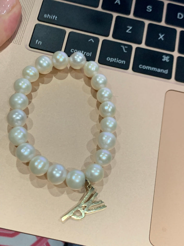 Pearl and WP Charm Bracelet - Lauren Sigman Collection