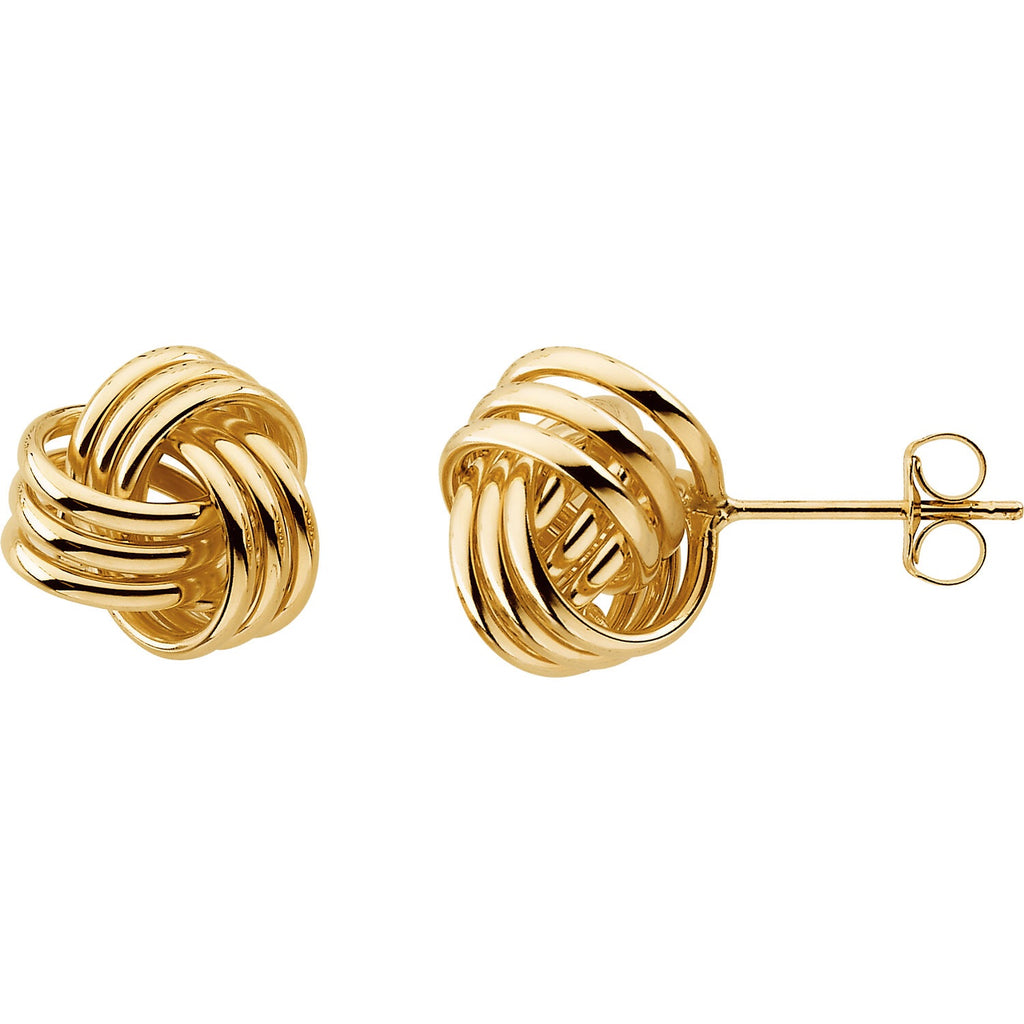Gold Knot Stud Earrings - Lauren Sigman Collection