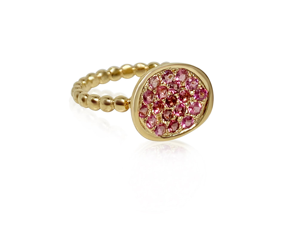 Mum Ring with Pink Sapphires - Lauren Sigman Collection