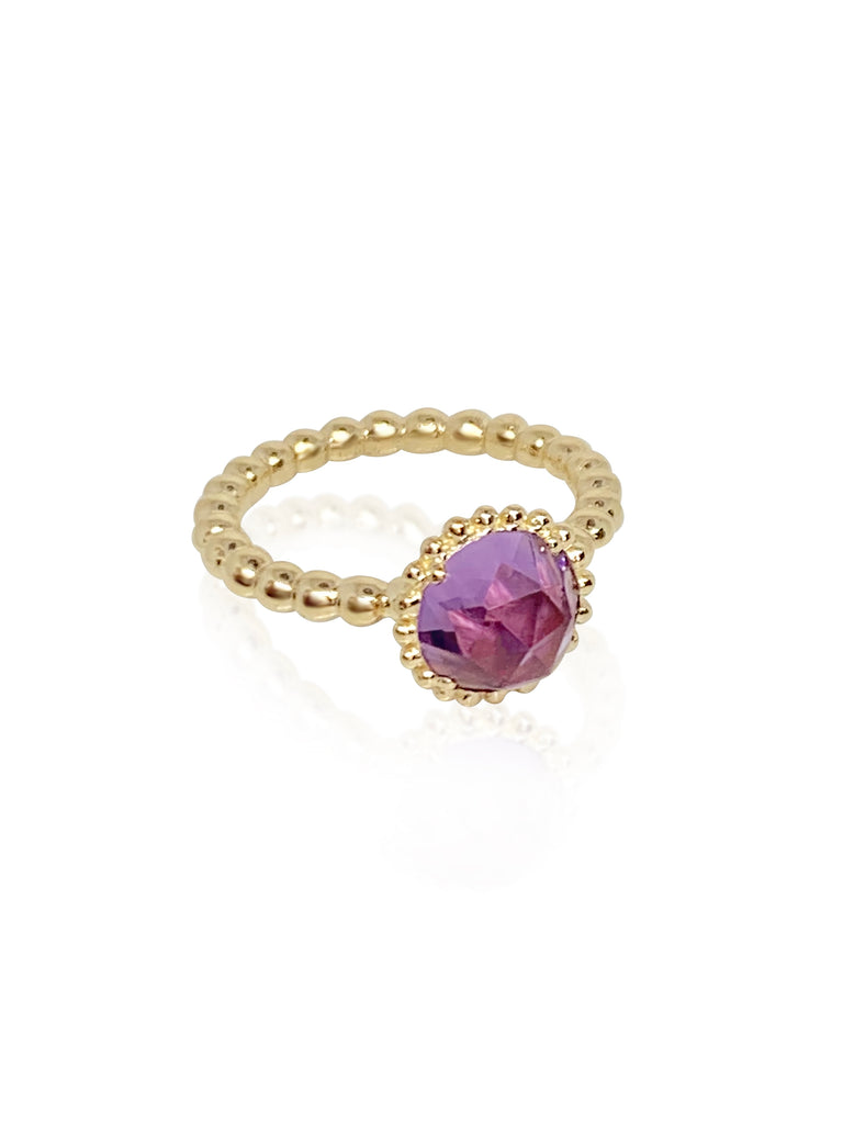 Large Sweet Pea Ring with Amethyst - Lauren Sigman Collection