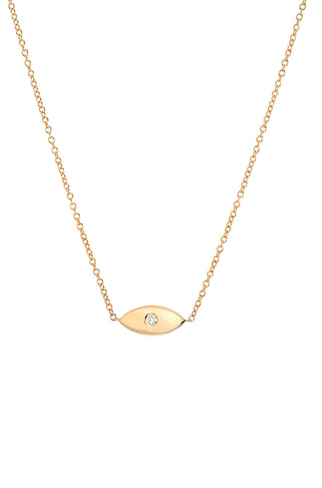 Diamond Evil Eye Necklace - Lauren Sigman Collection