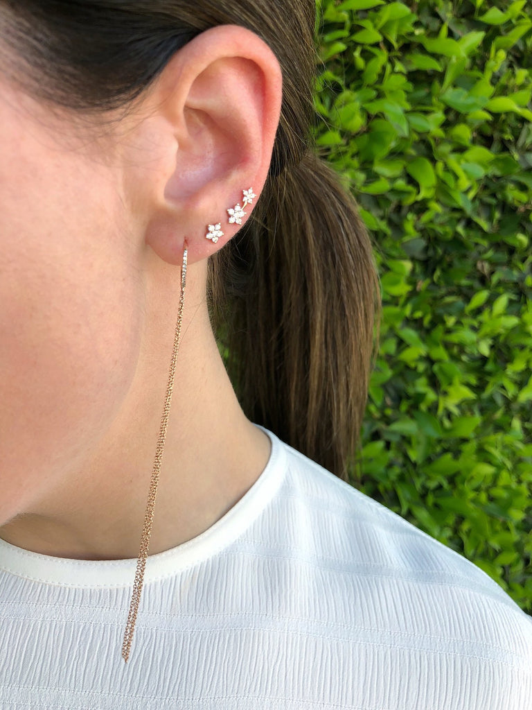 Diamond Fringe Leverback Earrings - Lauren Sigman Collection